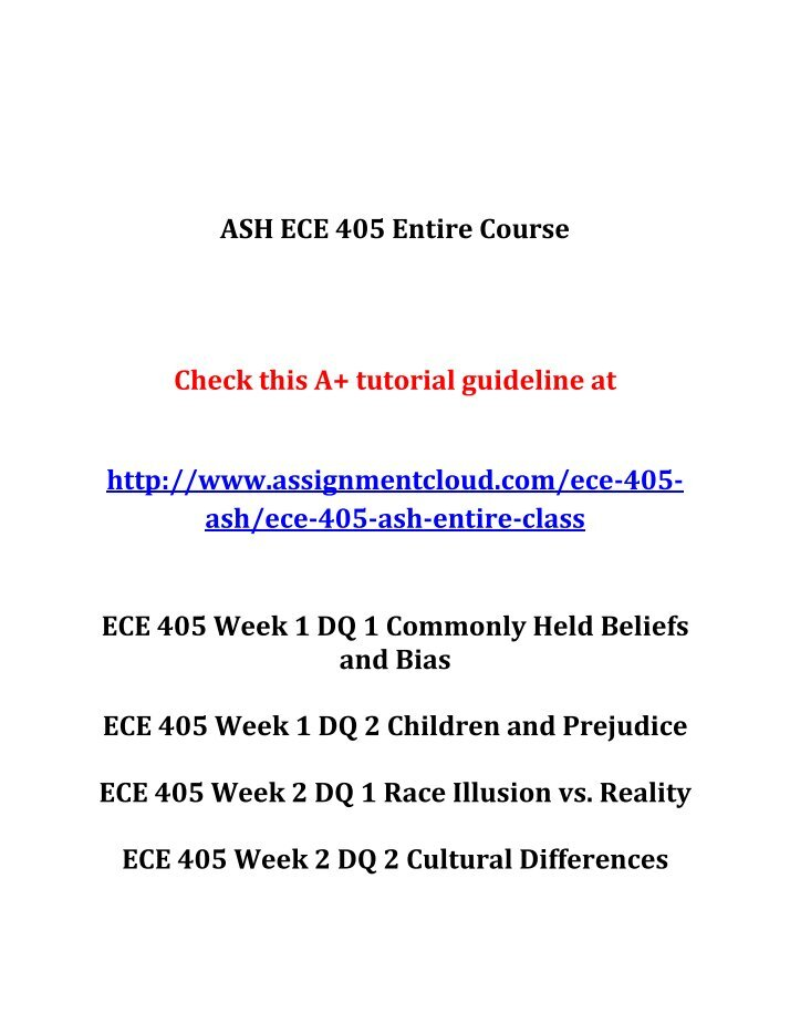 ece 332 week 5 dq 2 Tutorialrank is a online tutorial store we provides ashford ece 332 week 2 dq 2 conception to birth.
