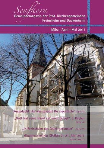 Senfkorn Gemeindemagazin der Prot. Kirchengemeinden ...