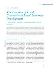 The Function of Local Currencies in Local Economic Development
