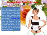 Dia Agnihotri Escorts in Pune for Holiday Enjoy.