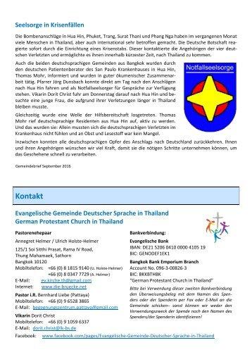 2016-9  Gemeindebrief Seelsorge in Krisenfällen Eigenbericht Ev.Gemeinde Thailand