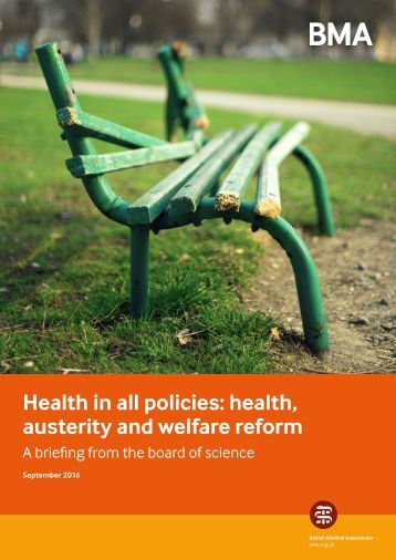 Health in all policies health austerity and welfare reform