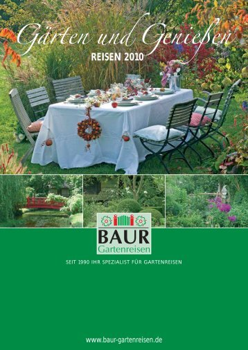 Gärten und Genießen - Baur Gartenreisen
