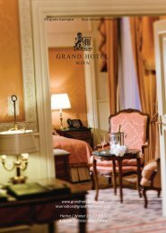 Rooms and suites - Grand Hotel Wien
