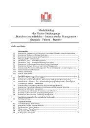 1 Pflichtmodule - Fachbereich Wirtschaft - Fachhochschule ...