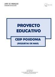PROYECTO EDUCATIVO - CEIP POSIDONIA