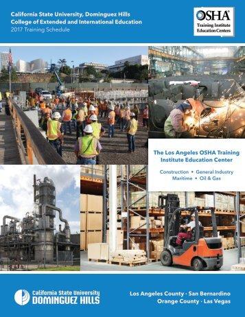 2017 CSUDH OSHA Course Catalog