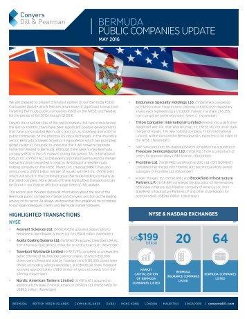 Conyers Bermuda Public Companies Update (May 2016)