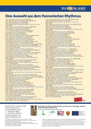 Eine Auswahl aus dem Pannonischen Rhythmus - Pressetext Austria