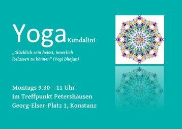 Kundalini Yoga in Petershausen