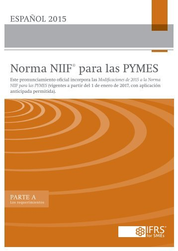 Norma NIIF para las PYMES