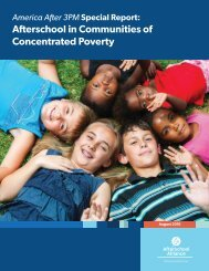 Afterschool in Communities of Concentrated Poverty