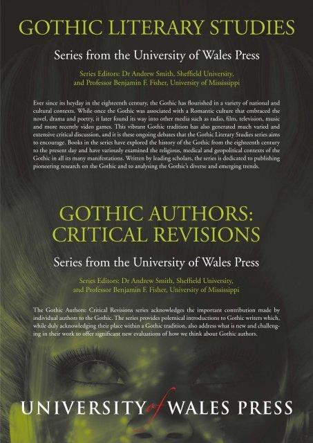 Gothic Literary Studies Gothic Authors Critical Revisions