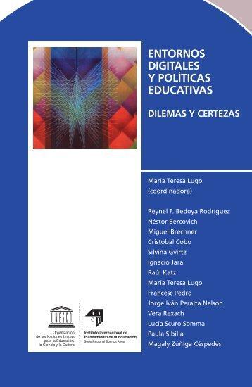 ENTORNOS DIGITALES Y POLÍTICAS EDUCATIVAS