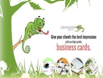 Business Cards - Chameleon Print Group, Hervey Bay