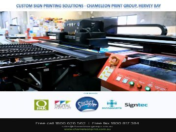 Custom Sign Printing Solutions - Chameleon Print Group, Hervey Bay