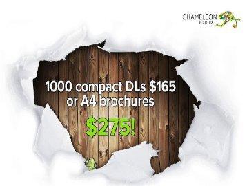 Range of Brochures and Flyers - Chameleon Print Group - Australia