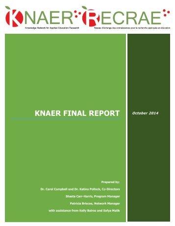 KNAER FINAL REPORT
