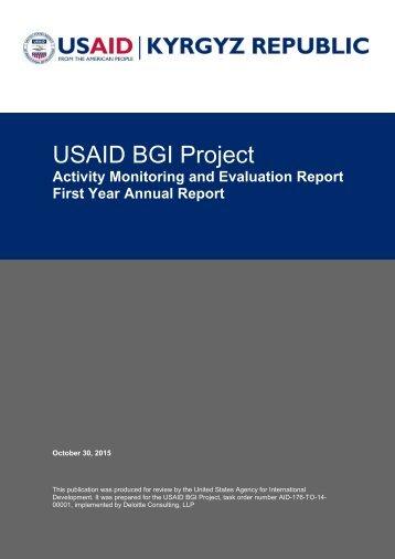 USAID BGI Project