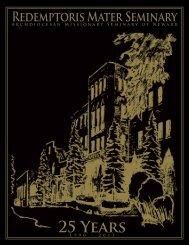 Redemptoris Mater Seminary of Newark - 25th Anniversary Booklet