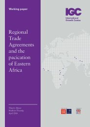 Regional Trade Agreements and the pacication of Eastern Africa