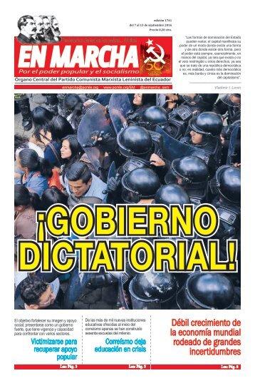 ¡GOBIERNO DICTATORIAL!
