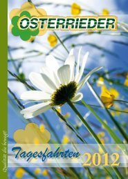 Tagesfahrtenkatalog 2012 - Osterrieder Reisen