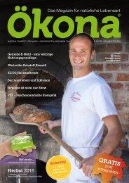 Ökona - das Magazin für natürliche Lebensart: Ausgabe Herbst 2016