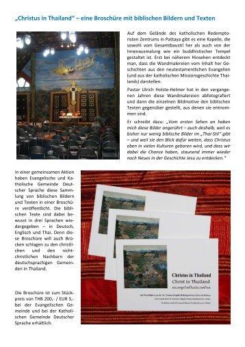 2016-9 Broschüre Thai Christliche Kunst Pattaya Pressemeldung Ev.Gemeinde Thailand