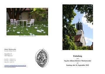 Tag des offenen Klosters Marienwerder - Klosterkammer Hannover