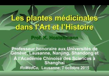 Les plantes médicinales dans l'Art et l'Histoire