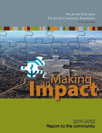 Report to the community - Jewish Federation of the Greater East Bay