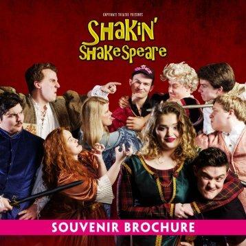 Shakin' Shakespeare 2016 Souvenir Brochure