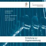 Einladung zur Orgeleinweihung - Klosterkammer Hannover