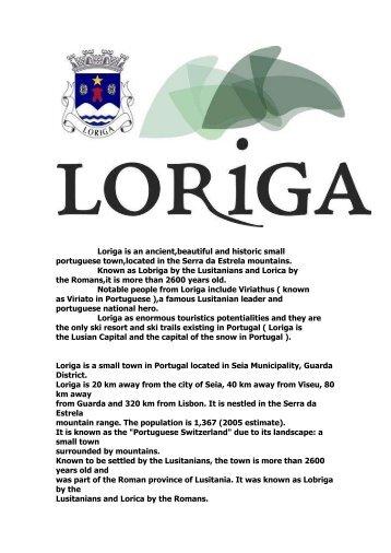 Loriga - Extratos da obra sobre a História de Loriga pelo historiador António Conde
