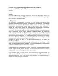 Research, Innovation and Knowledge Management: the ... - Unesco