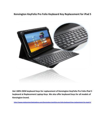Kensington KeyFolio Pro Folio Keyboard Key Replacement for iPad 5