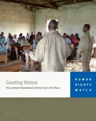 Courting History - Human Rights Watch
