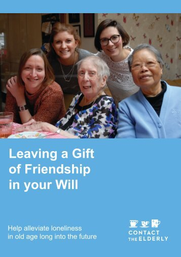 Leaving a Gift of Friendship in your Will