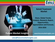 Keloid Treatment Market Revenue and Value Chain 2016-2026