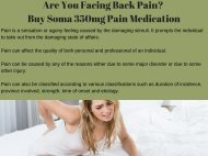 Carisoprodol Soma Medication Available for Back Pain