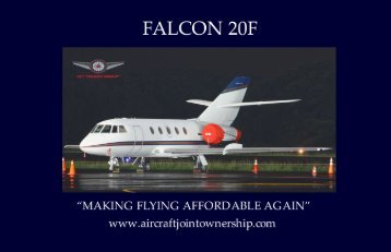 Aircraft Joint Ownership Falcon 20F