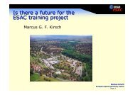 ESAC - The ESAC Trainee Project Introduction
