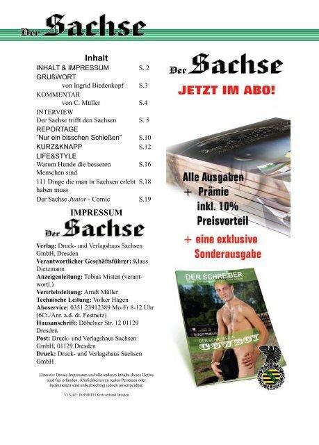 Der Sachse - patriotisch - heiamtliebend - sächsisch