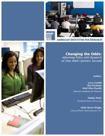 Changing the Odds: - American Institutes for Research