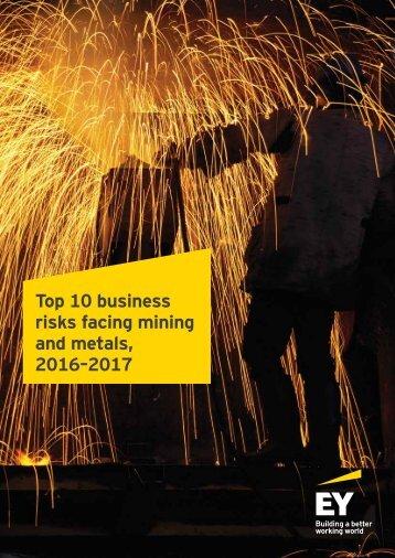 Top 10 business risks facing mining and metals 2016–2017