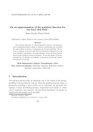 On an approximation of the partition function for - Department of ...