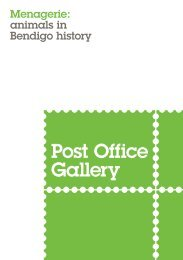 Post Office Gallery Menagerie: Animals in Bendigo's History Catalogue 2016