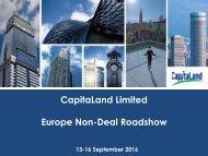 CapitaLand Limited Europe Non-Deal Roadshow