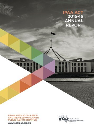 IPAA ACT 2015-16 ANNUAL REPORT